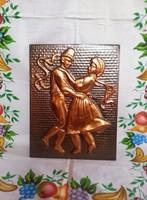 Réz falikép (préselt lemez) Táncoló pár