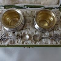 Ezüst empire fűszertartó pár