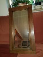 26x64 fészkű, szép puritán tükör, nehéz