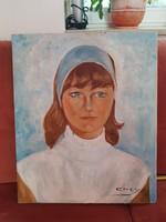 Olajfestmény, portré