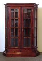 0W556 Mahagóni üveges vitrin stilbútor 194 cm