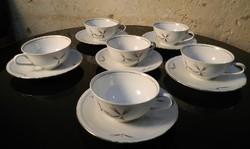 Hibátlan 6 db-os retro német porcelán teáskészlet