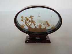 Keleti kézműves miniatűr kép parafa dísztárgy