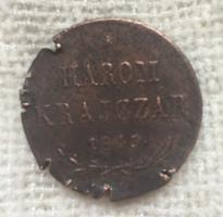 Szabadságharc 3 krajcár 1849