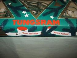 Retro Tungsram karácsonyfa fényfüzér égősor izzósor