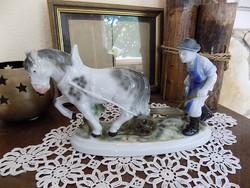 Lóval szántó bácsika