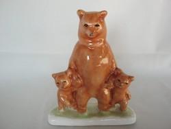 Bodrogkeresztúri kerámia maci mackócsalád