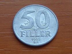 MAGYAR NÉPKÖZTÁRSASÁG 50 FILLÉR 1986