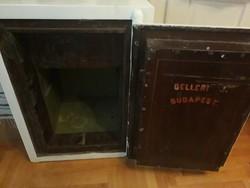 Antik páncélszekrény, trezor, széf,  Gelléri József