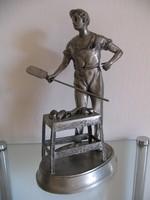 Péklegény szobor, jelzett (32 cm)