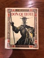 Cervantes Don Quijote antik könyv 1928 előtti