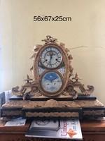 Jean B. Delettrez után, tűzi-aranyozott francia kandalló óra