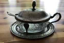 Antik ezüst cukortartó 800.