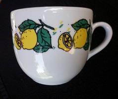 Nagy méretű ritka citromos Zsolnay teás csésze 4dl. 226.