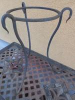 Antik kovácsoltvas virágtartó 50*40 cm