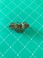 Nagyon szép ezüst pillangó bross