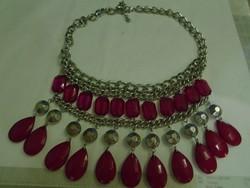 Tajföldi szintetikus pink rubin collier több mint 500 ct