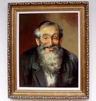 FÉLÁRON! Adilov Kabul Rabbi II. portré KERETEZVE 63x53cm