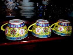 3 db Kínai  kézzel festett csésze 900 Ft/ db
