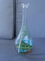Festett üveg palack