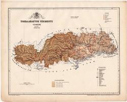 Torda - Aranyos vármegye térkép 1899, Magyarország atlasz (a), Gönczy Pál, 24 x 30 cm, megye, Posner