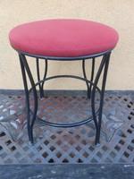 Antik kovácsoltvas szék/puff 48*34 cm