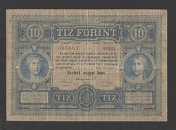 "10 gulden/10 forint 1880.  ""VF+"", NAGYON SZÉP!!  RITKA!!"