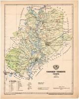 Csongrád vármegye térkép 1899, Magyarország atlasz (a), Gönczy Pál, 24 x 30 cm, megye, Posner Károly