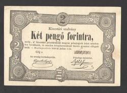 Két pengő forintra 1849.   ELTOLÓDOTT NYOMAT!!  GYÖNYÖRŰ!!