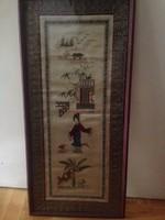 Selyemre hímzet kínai kép
