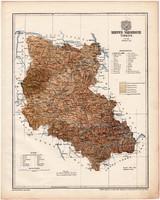 Szepes vármegye térkép 1899, Magyarország atlasz (a), Gönczy Pál, 24 x 30 cm, megye, Posner Károly