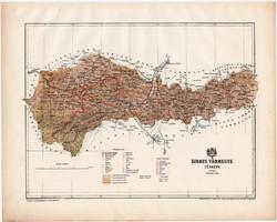 Kolozs vármegye térkép 1899, Magyarország atlasz (a), Gönczy Pál, 24 x 30 cm, megye, Posner Károly