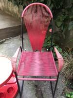 Retro Spagetti Fémvázas hintaszék,szék kertiszék