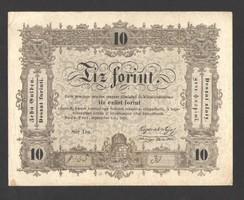 """10 forint 1848.  Kettő hiba!!  Az """"Ö"""" betű, nem zárt, és, """"büntetettnek""""!!  GYÖNYÖRŰ!!"""