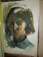 Szenzációs akvarell, méret jelezve a képeken