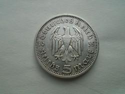 1935-ös Ezüst Német 5 márkás.