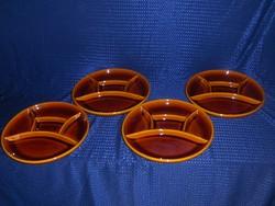 Osztott jelzett kerámia tányér készlet 4 db egyben 23 cm (s)
