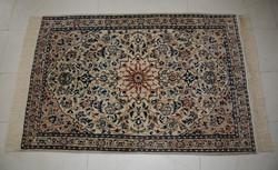 Iráni selyemkontúros Nain szőnyeg