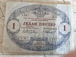 Régi papir penz,Montenegro