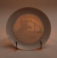 0X254 Hortobágyi árnyékképes porcelán dísztányér