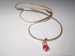 JELZETT kéttónusú arany goldfilled  nyaklánc