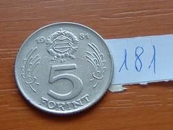 MAGYAR NÉPKÖZTÁRSASÁG 5 FORINT 1981 181.