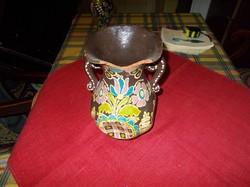 Gránátalma mintás két fülű váza.Lázi jelzéssel