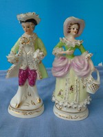 20TH C. DRESDEN PORCELAIN FIGURAL COURTING COUPLE, RICHARD KLEMM FACTORY