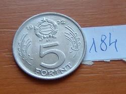 MAGYAR NÉPKÖZTÁRSASÁG 5 FORINT 1972 184.