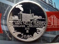 Hollandia Van Nelle ezüst (.925) 5 Euro 2015 PP/id 9879/
