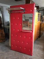 Retro régi mid century műbőr előszobafal előszoba bútor fogas