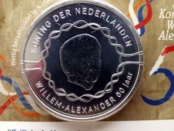 Hollandia Willem-Alexander király 50. születésnapja ezüst (.925) 10 Euro 2017 PP/id 9880/