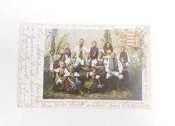 Felső magyarországi családi csoport levelezőlap