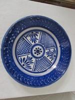 Kék feher keleti porcelán tál